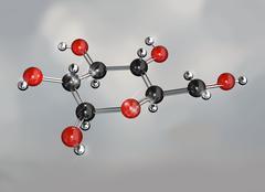 Glucose sugar molecule Stock Illustration