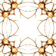 neurons, kaleidoscope artwork - stock illustration