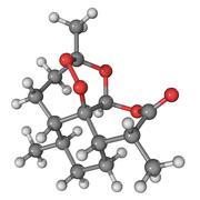 Artemisinin malaria drug molecule Stock Illustration