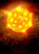 Solar activity, artwork Stock Illustration