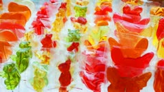 Sugar Candy Panorama Closeup Stock Footage