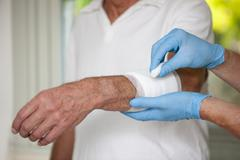 Wound care Stock Photos