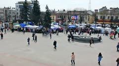 Wideangle Panorama Fair Stock Footage