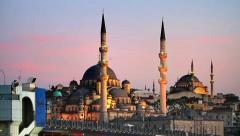 Pray time in Istanbul Stock Footage