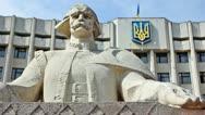 Ukrainian Flag And Figure Cymbalist Stock Footage