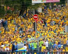 Swedish fans Stock Footage