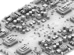 circuit board, artwork - stock illustration