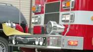 Fire engine Lights Loop Stock Footage
