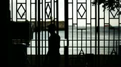 Through the grating. Stock Footage