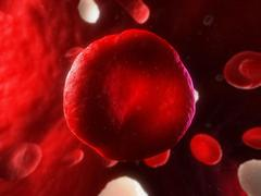 red blood cell, artwork - stock illustration