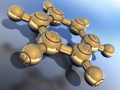 Stock Illustration of benzene, molecular model