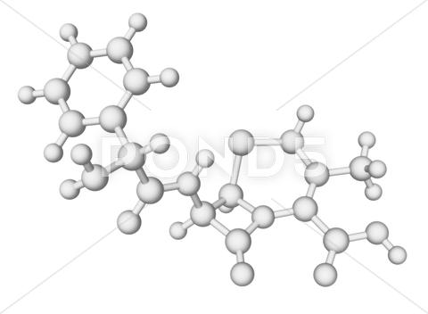 Stock Illustration of cephalexin antibiotic molecule