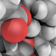 Molecular model Stock Illustration