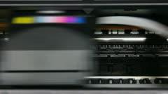 Inkjet printer color photo prints Stock Footage