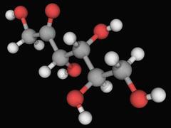 D-fructose molecule Stock Illustration