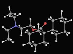 Dicyclomine drug molecule Stock Illustration