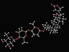 Digoxin drug molecule Stock Illustration