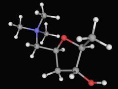 Muscarine molecule Stock Illustration