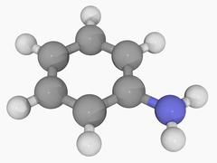 Aniline molecule Stock Illustration