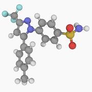 Celecoxib drug molecule Stock Illustration
