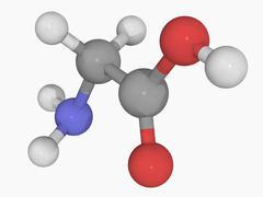 Glycine molecule Stock Illustration