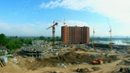 Construction the building. Time lapse Stock Footage