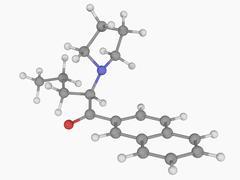 Naphyrone drug molecule Stock Illustration