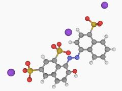 Ponceau 4r molecule Stock Illustration