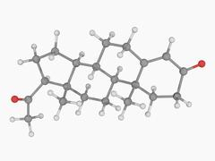 Progesterone hormone molecule Stock Illustration