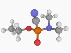 Stock Illustration of tabun nerve agent molecule