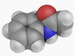 Acetanilide molecule Stock Illustration