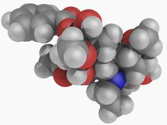 Aconitine poison molecule Stock Illustration
