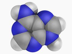 Adenine molecule Stock Illustration