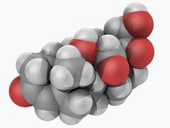 Aldosterone hormone molecule Stock Illustration