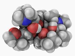 azithromycin drug molecule - stock illustration