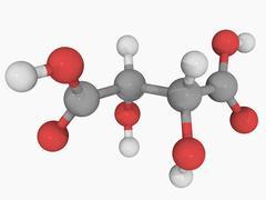 Tartaric acid molecule Stock Illustration