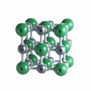 Sodium chloride lattice Stock Illustration