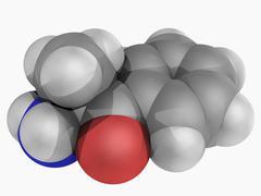 cathinone drug molecule - stock illustration