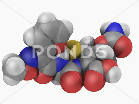Stock Illustration of cefuroxime drug molecule