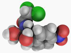 Chloramphenicol drug molecule Stock Illustration