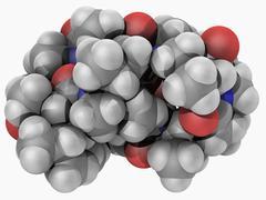 Ciclosporin drug molecule Stock Illustration