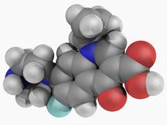 Ciprofloxacin drug molecule Stock Illustration