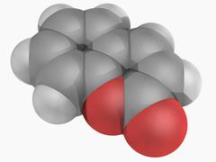 coumarin molecule - stock illustration