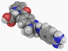 dabigatran drug molecule - stock illustration