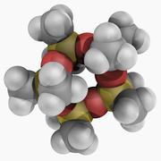 decamethylcyclopentasiloxane molecule - stock illustration