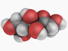 D-fructose molecule Stock Illustration