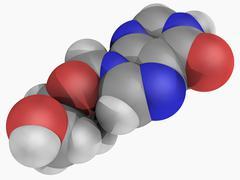 didanosine drug molecule - stock illustration