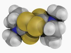 disulfiram drug molecule - stock illustration