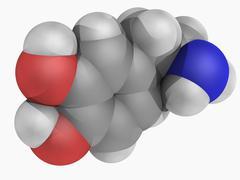 Dopamine molecule Stock Illustration