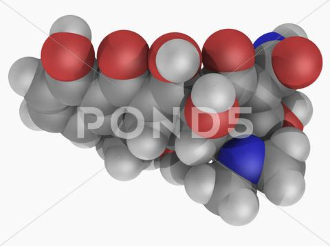 Stock Illustration of doxycycline drug molecule